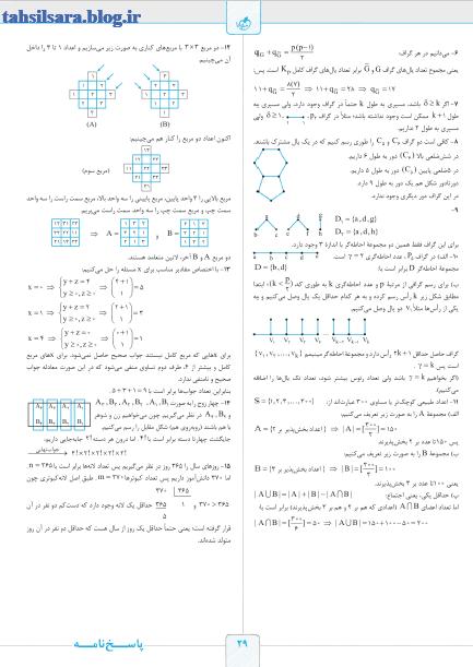 کتاب ریاضی گسسته دوازدهم ریاضی شب امتحان خیلی سبز