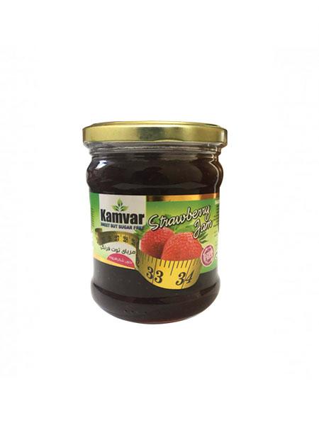 مربای توت فرنگی بدون شکر و رژیمی کامور
