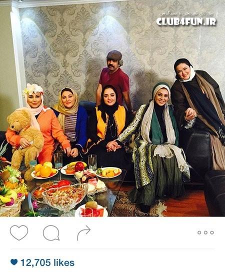 بهاره رهنما در کنار تیم شام ایرانی