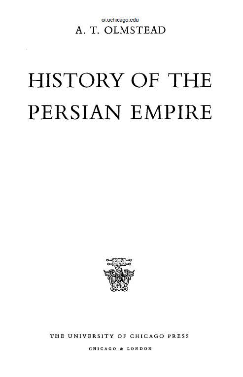Cover of History Of The Persian Empire