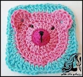بافتنی و آموزش بافت پتو نوزاد طرح خرس