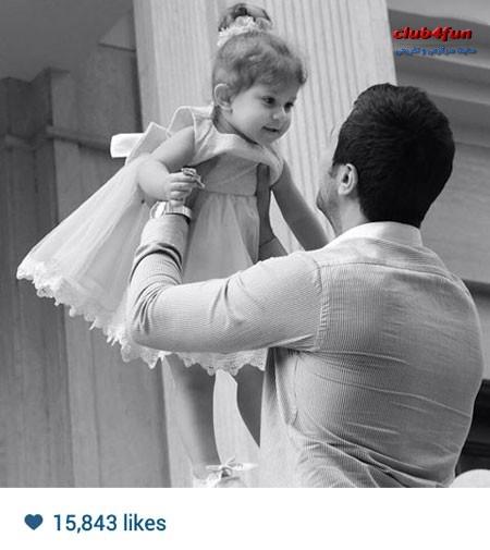 عکس هنری شاهرخ استخری و دخترش پناه خانم