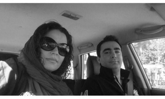 سلفی جدید سپیده خداوردی و همسرش داخل اتومبیل