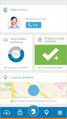 اپلیکیشن AT & T Protect Plus