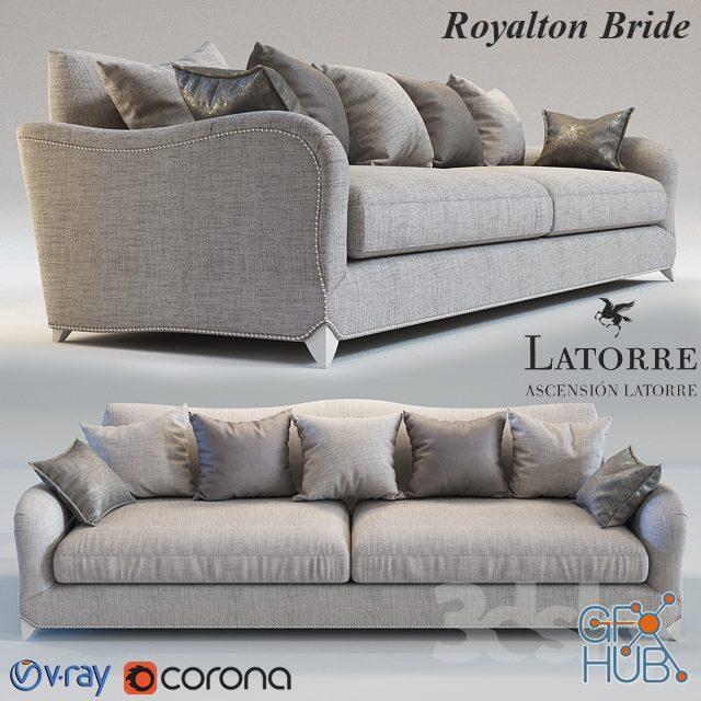bwdm 1552149042 royalton bride sofa - مجموعه مدل سه بعدی تخت و مبلمان - 001