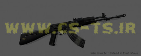 دانلود اسکین زیبای اسلحه ای akfu برای کانتر1.6