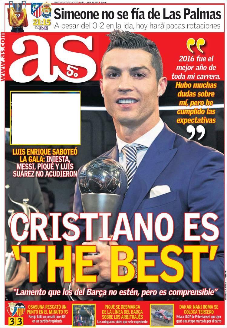 آ.اس: کریستیانو بهترین است