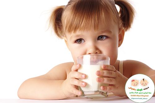 معرفی شیر گاو به کودکان