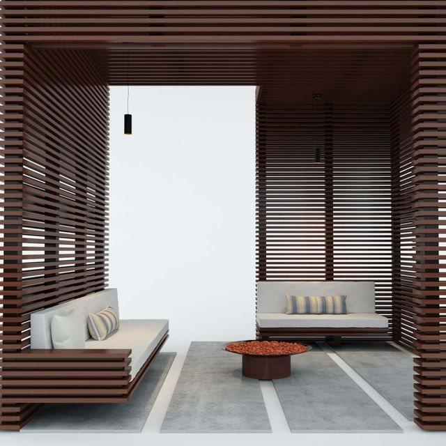 cw54 1515140174 wooden pergola for exterior 1 - مدل سه بعدی آلاچیق چوبی مدرن 3Dsmax,Vray
