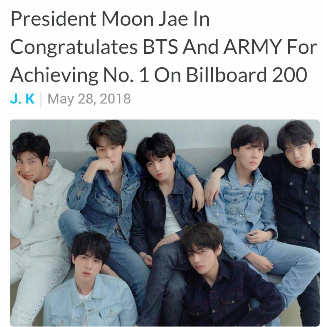 d328 photo 2018 05 28 21 41 07 - president Moon Jae in congratulates BTS amd Army for achieving No.1 On billboard 200