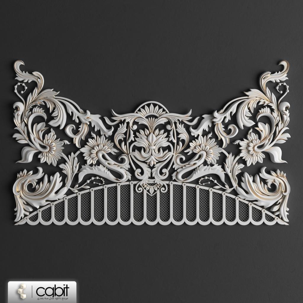 d939 decorative panels 003 cgbit.ir - مجموعه مدل سه بعدی المانهای دکوراتیو کلاسیک