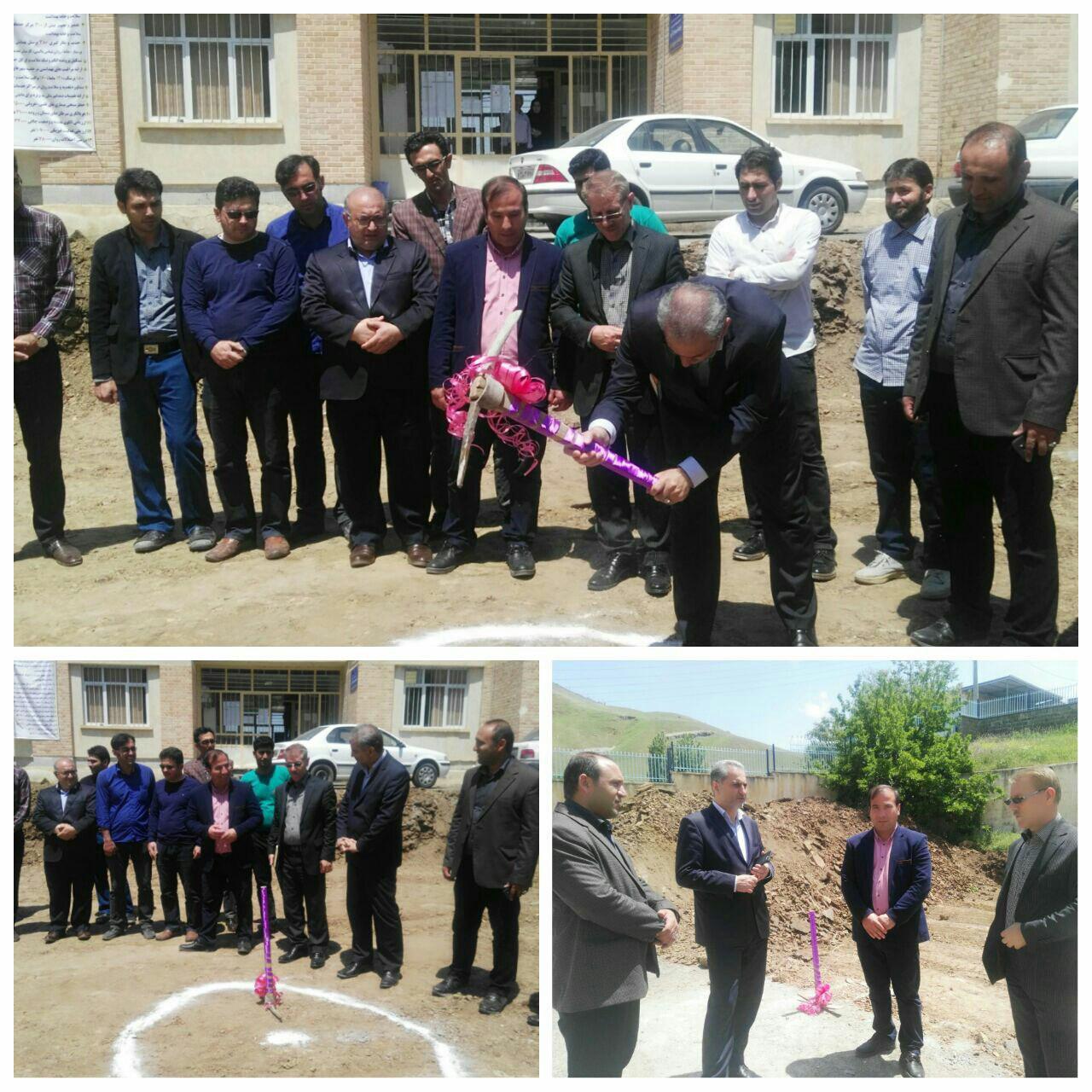 کلنگ زنی احداث مرکز جامع سلامت 22 بهمن و 5 خانه بهداشت در گرمی
