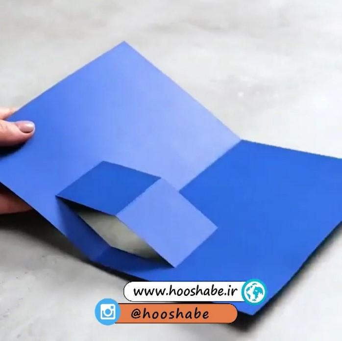 مرحله اول ساخت هدیه کارت پستالی