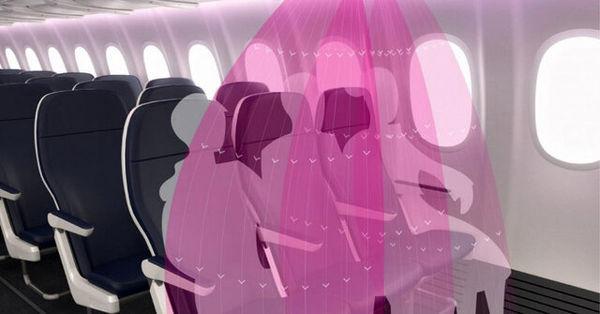 طرح مفهومی یک شرکت هواپیمایی برای دوری از کرونا در پرواز