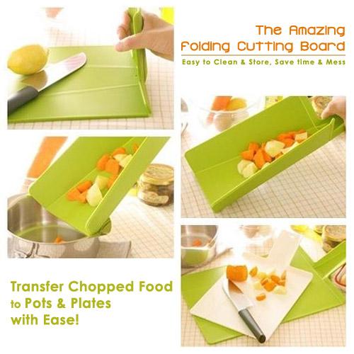 dse7 amazingfoldingcuttingboard تخته گوشت و تخته خرد كن تاشو برای تسريع در آشپزى