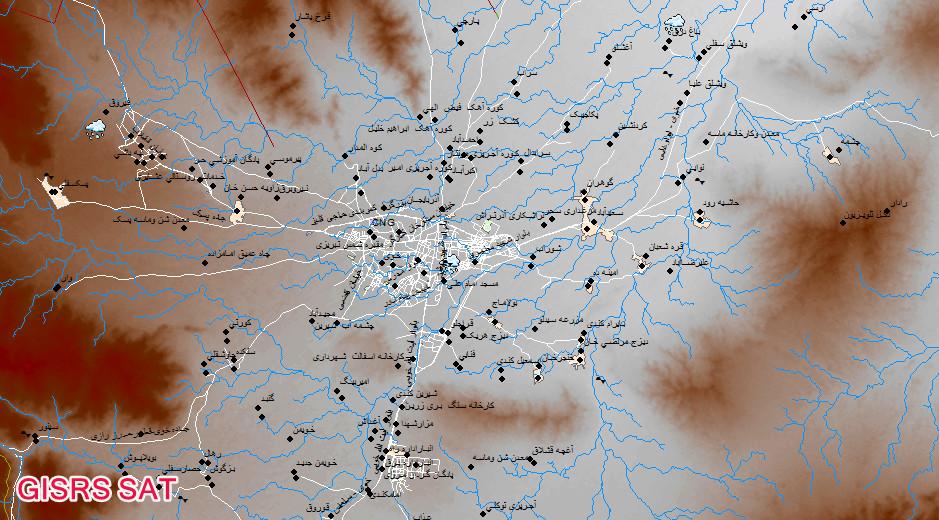 هوا شناسی شهرستان خوی GISRS SAT نقشه های GIS شهرستان خوی