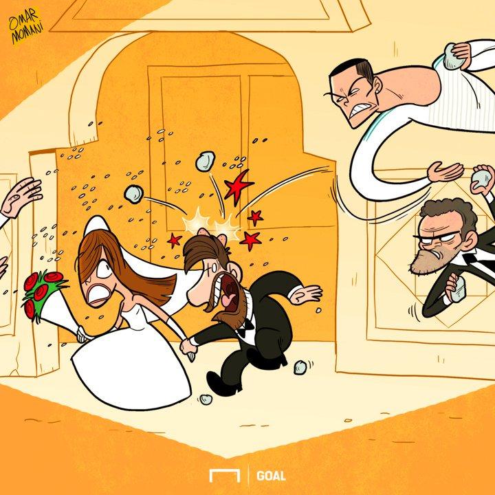 کاریکاتور/ حضور رونالدو در عروسی مسی!