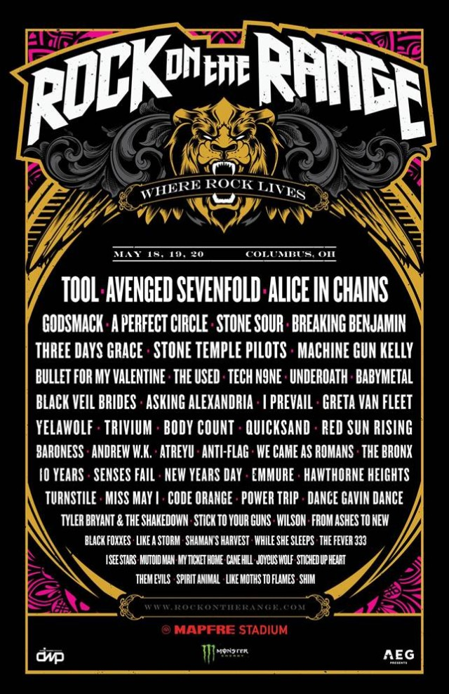 Rock On The Range - Live Peerformances - 2018
