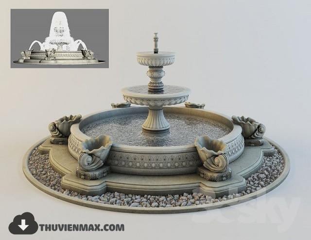 evbk 4 7 - کالکشن مدل سه بعدی آبنما - fountain 3d model