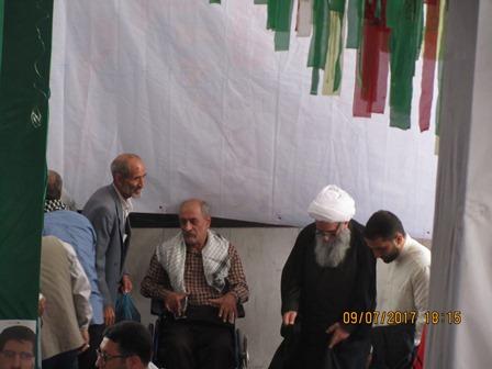 حاج آقا طاهر نژاد و جانباز عزیز حاج مرتضی خلجی