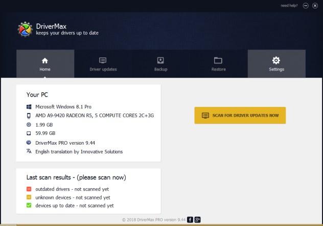 دانلود نرم افزار بروز رسانی درایور سخت افزار  DriverMax Pro Crack 12.11.0.6