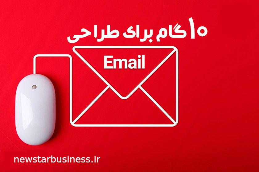 [اینفوگرافی]: 10 گام برای طراحی ایمیل