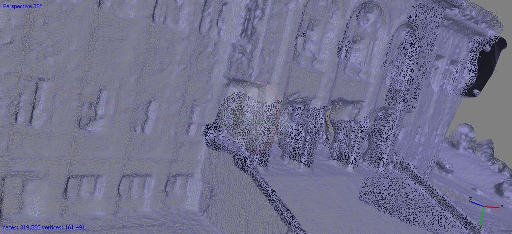 مش بندی - مدلسازی سه بعدی کاخ سعد آباد - فتوگرامتری برد کوتاه