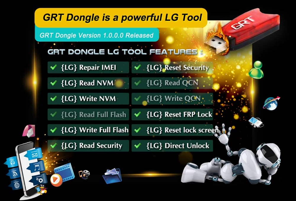 GRT Dongle powerful LG Tool Version 1 0 0 0 Is Released 02/12/2018