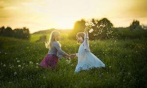 بچه های شاد و طبیعت