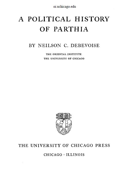 Cover of A Political History Of Parthia