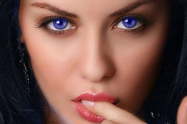 آموزش روتوش چهره ، تغییر رنگ چشم و مو در فتوشاپ