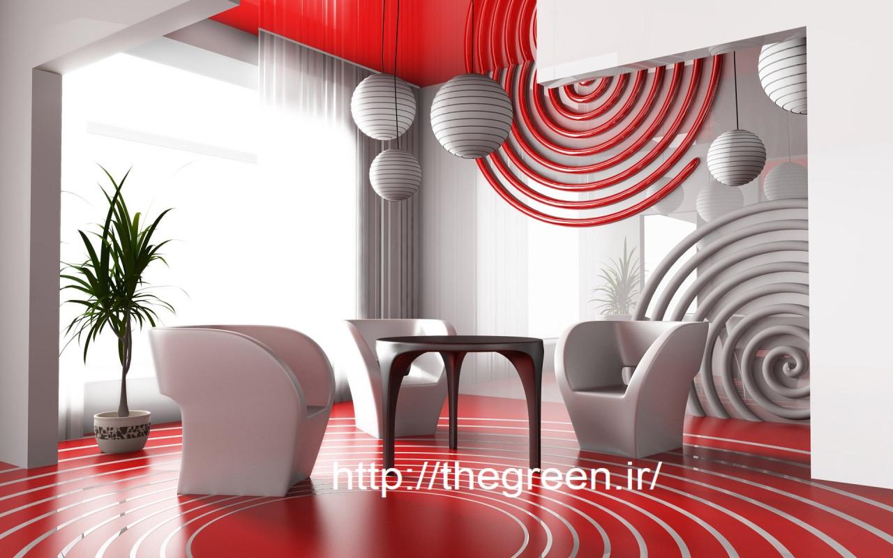 دکوراسیون سفید قرمز بدون تغییر اساسی در منزل