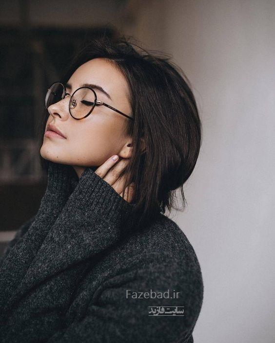 عکس پروفایل دخترونه با عینک گرد | پروفایل احساسی دخترونه | دختر عاشق و احساسی