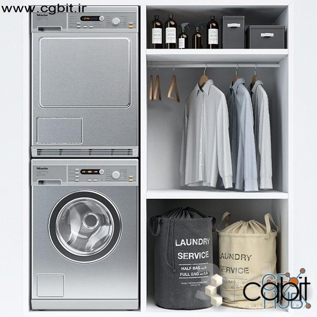 g7wp 1552305888 laundry - مجموعه مدل سه بعدی لباسشویی و خشکشویی