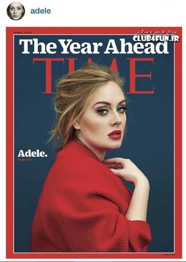 عکس بسیار زیبای ادل روی جلد مجله تایم