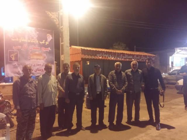 جانشین سپاه دشتستان در موکب صلواتی پایگاه سلمان فارسی