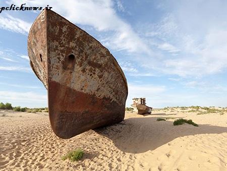 «دریاچه ی آرال» گورستان کشتی ها