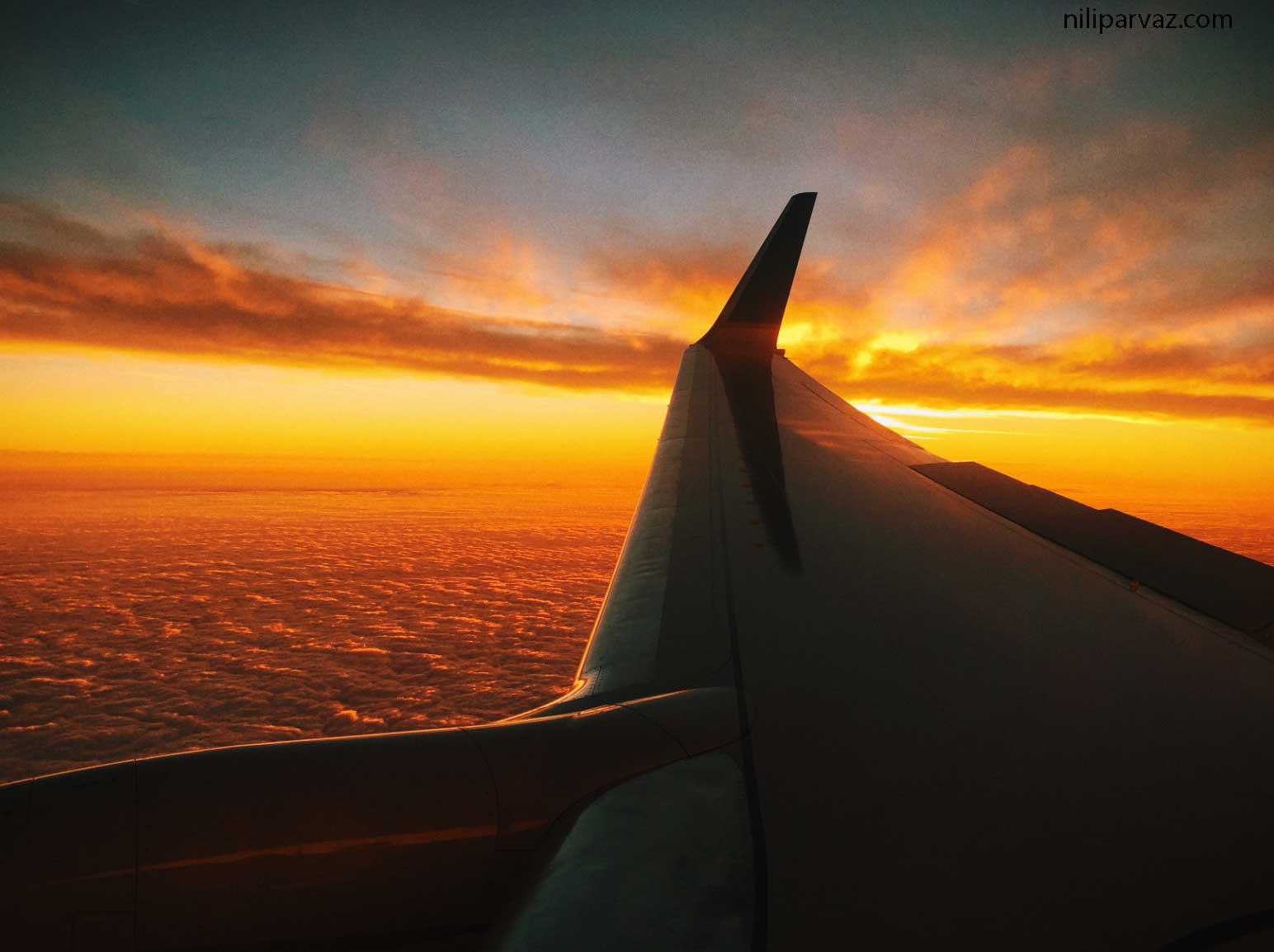 مدت زمان پرواز شیراز به تهران