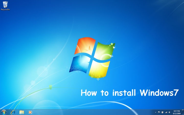 how to install windows7