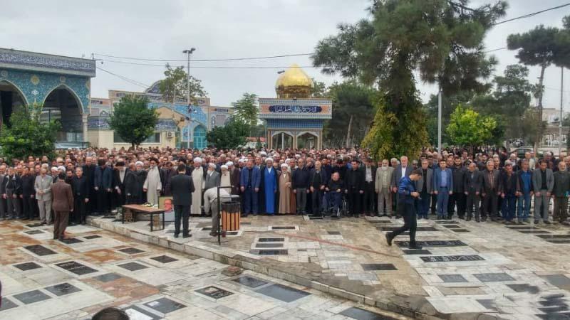 پیکر اولین استاندار گلستان تشییع و به خاک سپرده شد