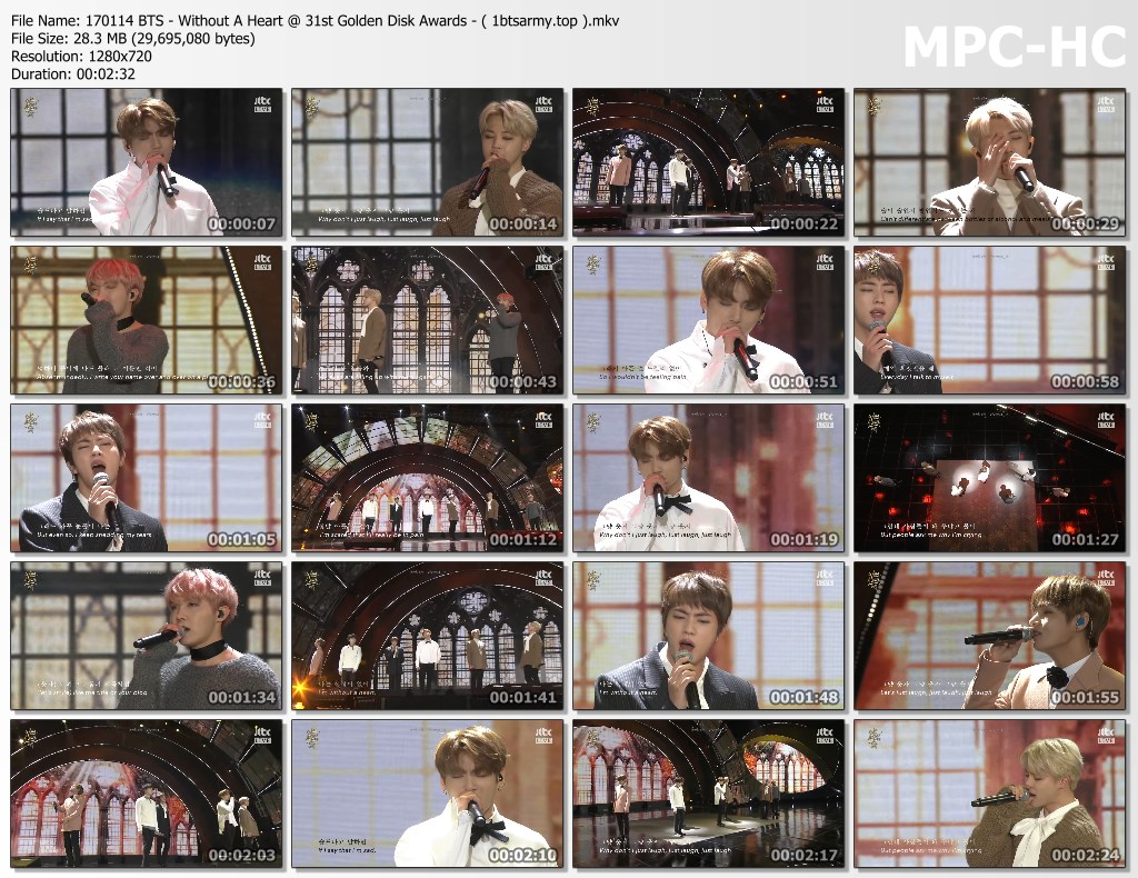 gsy 170114 bts   without a heart 31st golden disk awards   ( 1btsarmy.top ).mkv thumbs - video /links] BTS Various Artist Song Cover Performs]