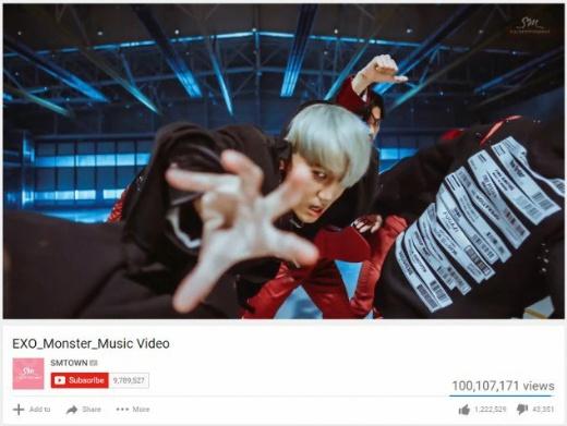 بازدید موزیک ویدیو Monster از EXO صدمیلیونی شد.
