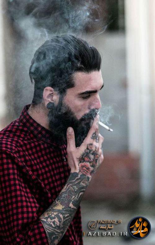 عکس سیگار کشیدن فازسنگین - سیگار کشیدن پسر ناراحت - سگار کشیدن پسر شاخ - عکس سیگار کشیدن پسرونه