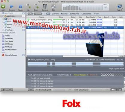 دانلود منیجر قدرتمند Folx 2.0.1029 برای مک