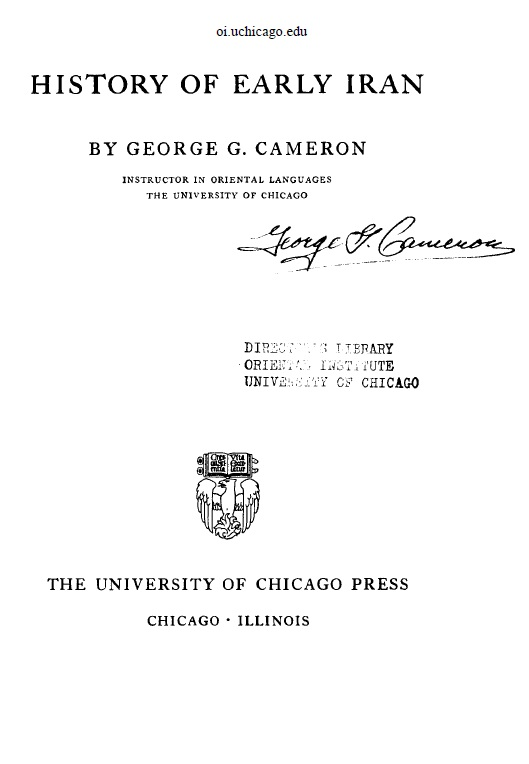 Cover of History Of Early Iran