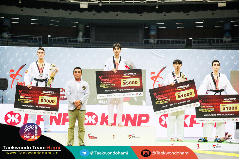 سکو مدال آوران وزن (58-kg |مردان) گرندپری 2018 چین تایپه