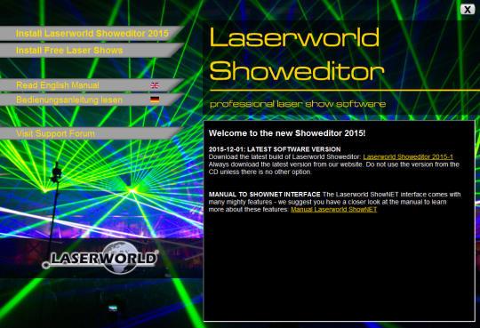 دانلود رایگان نرم افزار لیزر شو Laserworld Showeditor Free