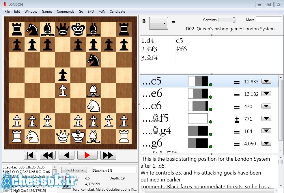 نرم افزار شروع بازی شطرنج