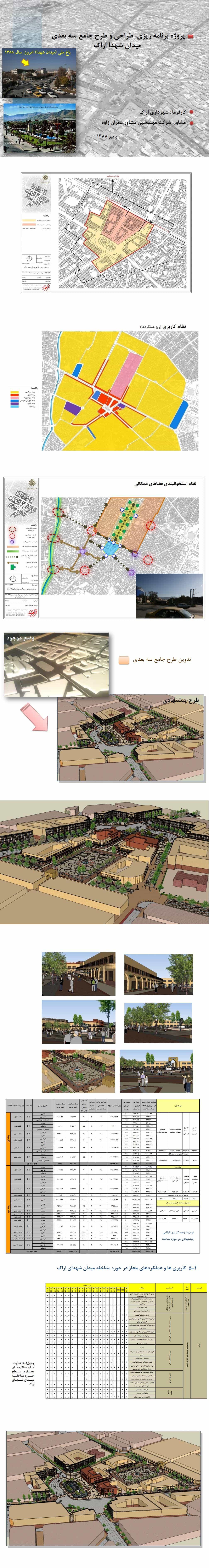 دانلود طرح جامع میدان شهدای اراک