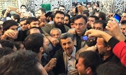 حضوردکتر احمدی نژاد در حرم حضرت عبدالعظیم حسنی(ع) + فیلم و تصاویر
